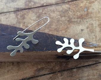 Stylized Sterling Silver Flora Earrings