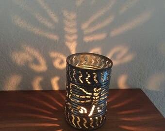 Tin Can Lantern, Rustic