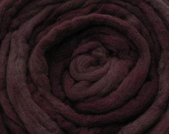 200g Acid Dyed Merino D'Arles Wool Top -  Rosewood