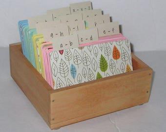 Address Card File...Medium...Rolodex...Wedding Guest Book Alternative...Handcrafted...Organizer...Business Card