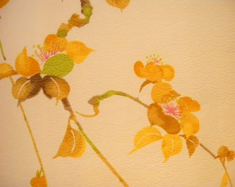 Vintage kimono S540, flowers