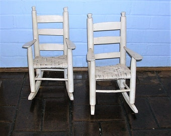 Vintage Wooden Doll Rockers Vintage Doll Rocking Chairs