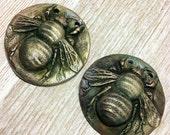Reserved for Julia Wondrousstrange Design  Just the Bees Knees Two Pendants
