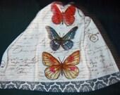 Crochet Kitchen Hanging Towe Kay Dee Design Butterflies Beige top