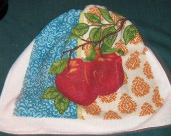 Crochet hanging towel, Two Apples Beige crochet top