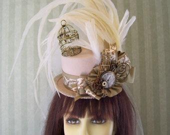 Steampunk  Mini Top Hat, Kentucky Derby Hat, Alice in Wonderland Hat, MaD HaTTeR Tea Party Hat, Wedding Hat
