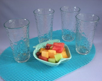 Vintage Clear Glass Tumblers Glassware Libbey Tumblers Water Glasses, Bar Glasses Vintage Glassware
