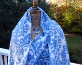 Waverly Blue Damask Fabric Essence - 3+ Yards
