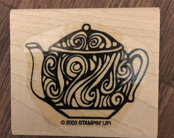 Stampin' Up Rare Wood Mounted Rubber Stamp