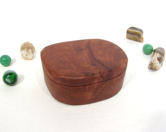 Redwood Heart Box, Oregon, wood art, engagement ring box, ring bearer box, jewelry box, earring box, guitar pick box, small wooden box