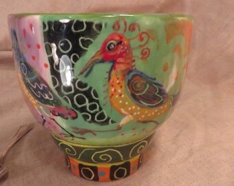 Bird Mug Whimsical Great Color And Personality