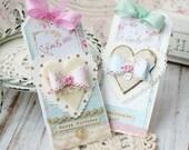Celebrate Shabby Chic Handmade Tag Set -Handmade Tags -Gift Tags -Handmade Gifts - Birthday Tags - Handmade Birthday Gifts - Birthday