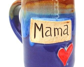 Handmade Pottery Mug  pottery and ceramics  Mama   purple   Jewel Pottery