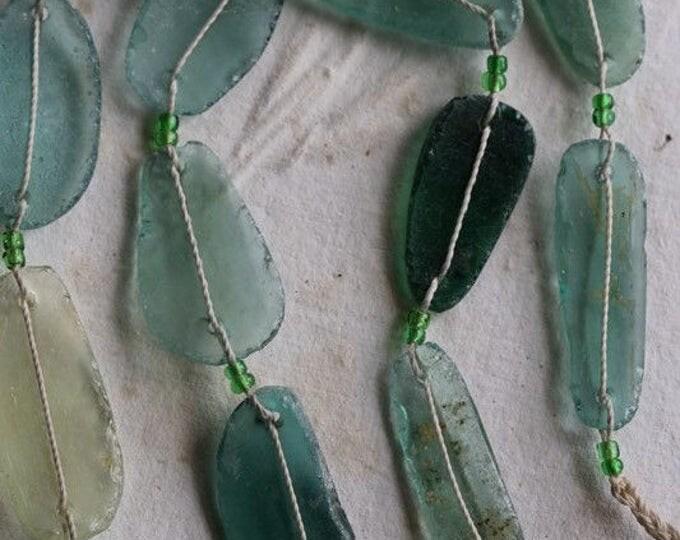 ANCIENT ROMAN GLASS No. 244 .. Genuine Antique Roman Glass Fragment Beads (rg-244)