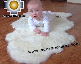 100% Baby Alpaca Fur Rug Bedside FREE SHIPPING Worldwide