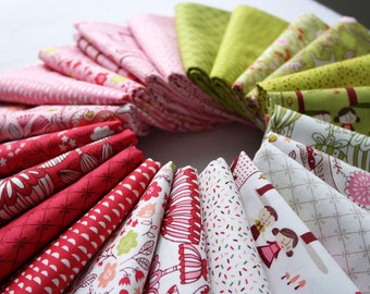 MODA Just Another Walk in the Woods 22 pc Full Collection Bundle Fat 8th, Fat Quarter Half Yard One Yard Includes Doll Panel, Stacy Iest Hsu