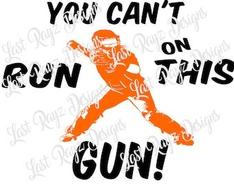 Softball Catcher You Can't Run on This Gun SVG, Studio file