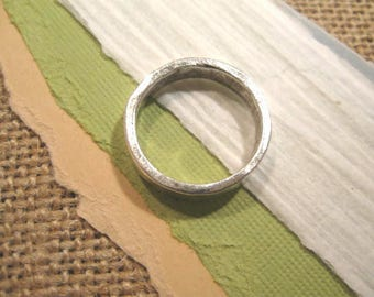 Size 8 Hammered Stacking Ring in Antique Silver from Nunn Design