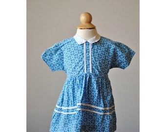 ON SALE 1950s Faded Floral Summer Dress~Size 9 Months