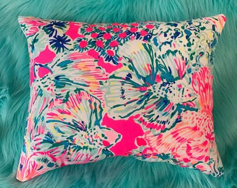 New Pillow made with Lilly Pulitzer GypSea fabric