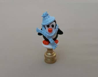 Penguin Lamp Finial... Hand Crafted to Order.
