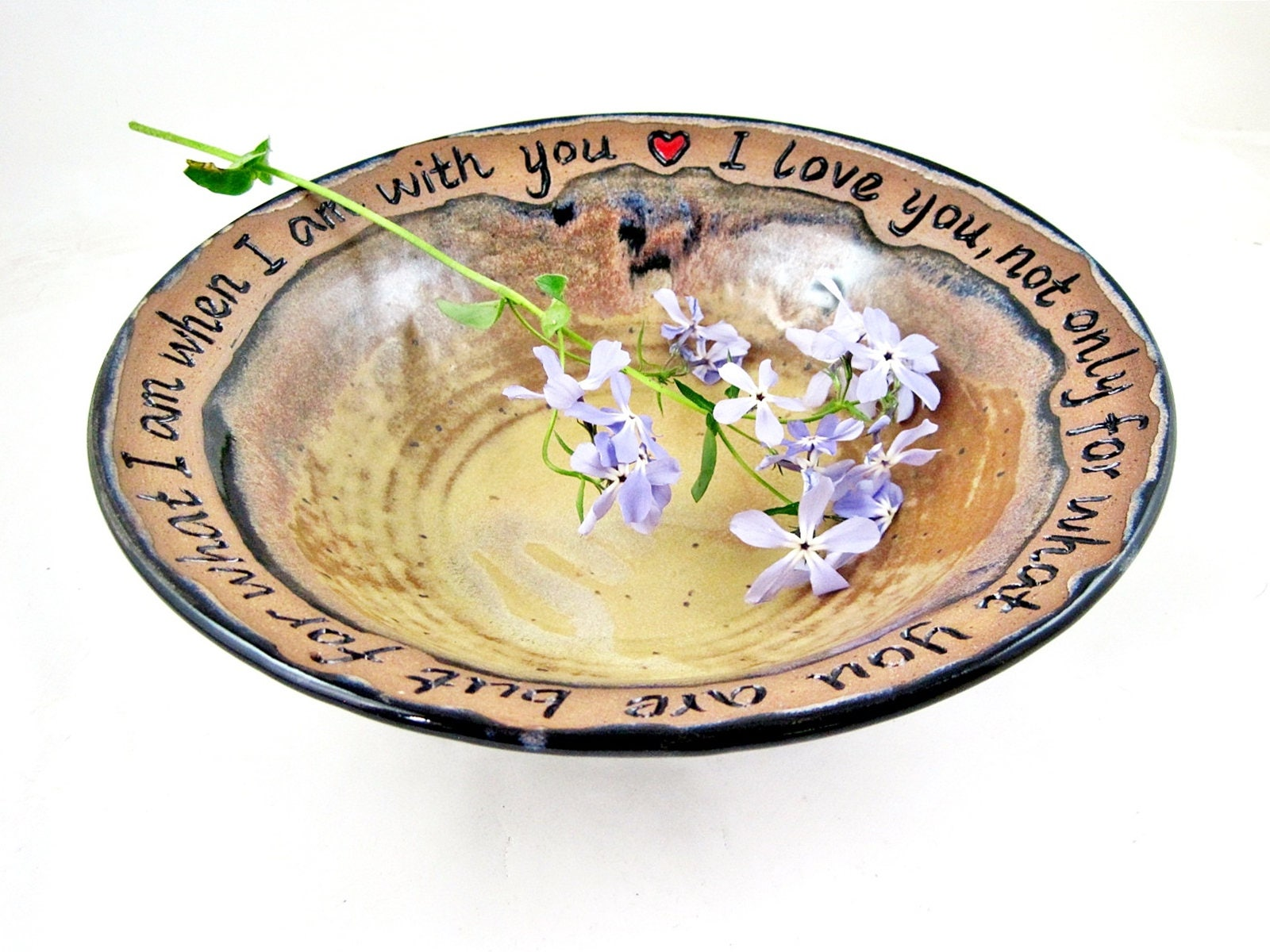 9th Anniversary Pottery For Wedding: Personalized Pottery Anniversary Gift Customized 9th
