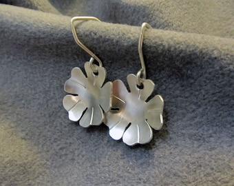 Earrings Petite Argentium Sterling Silver Flower Earrings