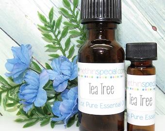 Tea Tree Pure Essential Oil, 100% Certified Pure, Tea Tree Oil, Tea Tree Essential Oil, Bath Oil, Energizing Oil, Anti-Bacterial Oil