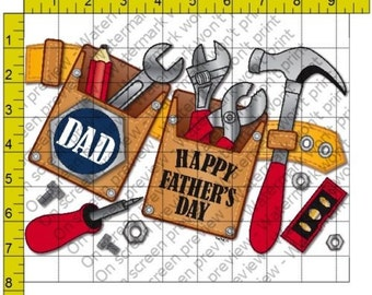 Father's Day Tool Belt Edible Frosting Sheet Cake Cupcake Topper Baking Supplies Jenuine Crafts