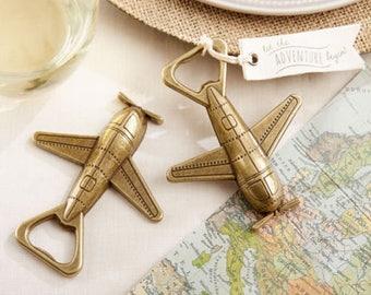 48 Let The Adventure Begin Airplane Bottle Opener Bridal Shower Wedding Favors Decor Supplies Jenuine Crafts