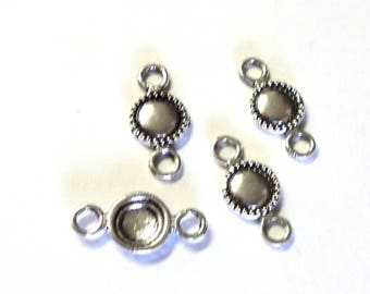 4 Zola Elements Antique Silver Porthold Links/Connectors, 19x9mm, Jewelry Components, Findings