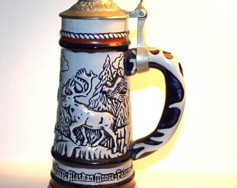 Avon Collectors Stein is Handcrafted - Wild Country