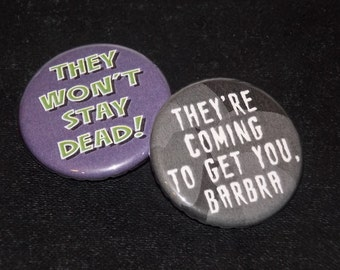 Night of the Living Dead Pin Set of 2