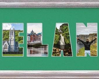 Ireland Custom Photo Collage 8x26 (mat only)