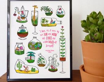 Little Worlds Fine Art Print - home decor, wall decor