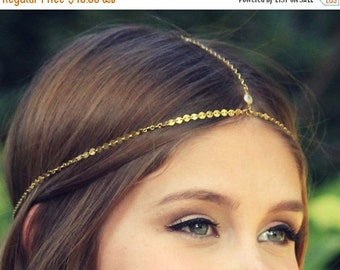 Anniversary SALE CHAIN HEADPIECE- head chain headdress boho chic head piece / head chain / headband