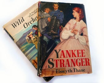 Vintage Historical Romance Book Collection 1940s Hardcover Elswyth Thane Yankee Stranger Isabel Dick Wild Orchard Peoples Book Club Novels