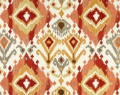 Paprika Shower Curtain, Trendy Orange Shower Curtain, Terracotta Decor, Ikat, Boho Decor, Medallion, Water Resistant