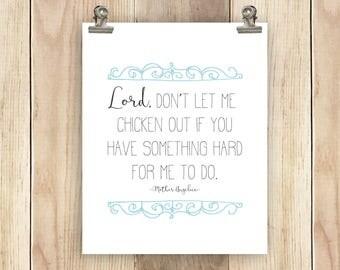 Catholic Print Mother Angelica Quote Printable 8x10 Wall Art Home Decor