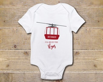 Ski Onesie, Skiing, Skis, Baby Shower Gift, Skier, Baby Clothes, Shirt, New Baby Gift, Winter, Ski Family, Slopes, Mountains
