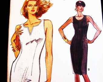 Vintage Very Easy Vogue Tapered Fitted Dress Pattern Misses size 12 14 16 Uncut
