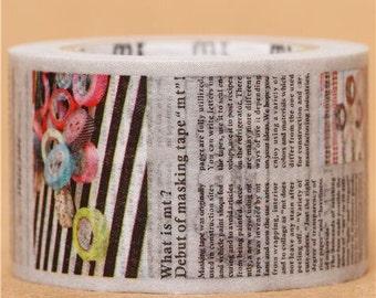 174357 wide journal newspaper mt Washi Masking Tape deco tape