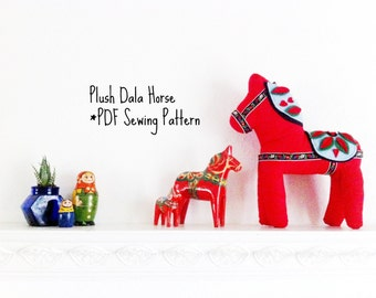 Plush Dala Horse PDF Sewing Pattern