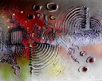 "Painting...Modern Art...""After I Close My Eyes...""Contemporary Textured Art..Wall Art...Original 24 x 48 Painting...Acrylic Mixed Media Art"