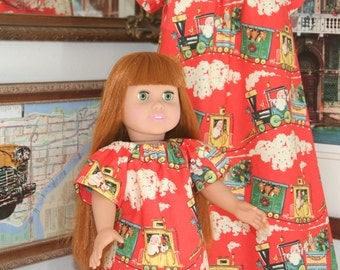 Christmas girl and doll dress  Ready to ship size 3 and 1 more available any size 3 to size 7