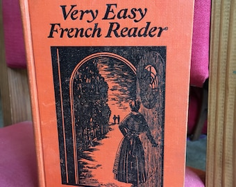 Very Easy French Reader, Antique hardcover book