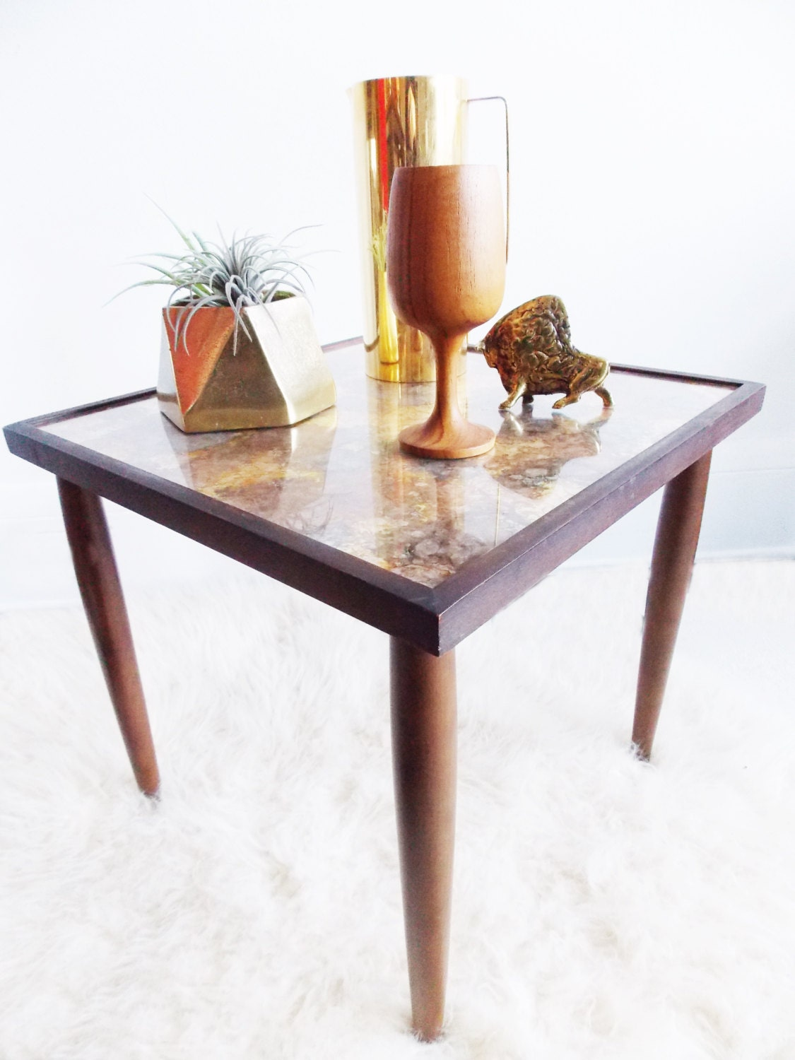 Mid century marble nesting table 1950s teak marble side zoom geotapseo Image collections