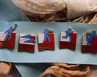 Vintage OLYMPIC PIN Lot- Kodak Seoul, Korea 1988 Olympics- Sports Memorabilia- Collectible Sporting Pins