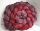 Sale BFL/Tussah/Firestar 50/25/25 Roving Combed Top - 5oz - Beaujolais 1