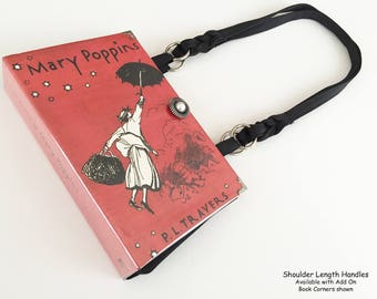 Mary Poppins Recycled Book Purse - Mary Poppins Book Clutch - Mary Poppins Book Cover Handbag - Handbag made from books - Book Pocketbook